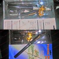 Alat Mancing Saku Pena Pancing Joran 160cm Rel Pocket Fishing Rod 1.6M