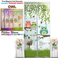 Jual [ OWL - BURUNG HANTU ] TIRAI MAGNET ANTI NYAMUK MOTIF OWL Murah