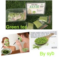 Jual BEST PRODUCT Organic Green Tea Kefir Mask Original by SYB Masker Kefi Murah