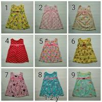 Baju Dress Anak Perempuan 1-2 Tahun Katun Catra Motif Baru