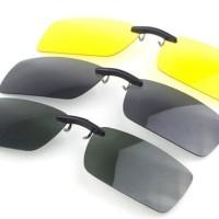 Kacamata Clip Ons Night n Day Polarized Anti UV /NEW CLIP INNOVATION