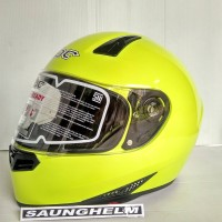 HELM KBC VX SOLID YELLOW GREEN
