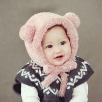 KUPLUK TOPI RAJUT BERUANG WOL BAYI ANAK BEANIE BABY HAT BEAR TRAVEL