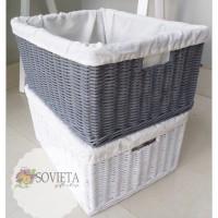 Jual Kotak Storage Rotan Box Penyimpanan Warna Putih & Abu-Abu Murah