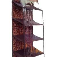 Jual HSOZ Leopard (Hanging Shoes Organizer Zipper) Rak Sepatu Retsleting Murah