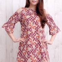 Baju Long Dress Batik Wanita, Baju Dress Wanita Batik
