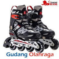 Jual Sepatu Roda COUGAR Inline Skate MZS835L Balck Silver Murah