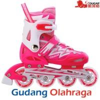 Jual Sepatu Roda COUGAR Inline Skate MZS835L Light Pink Murah