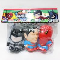 Jual Mainan Vinil Superhero - Batman Superman Spiderman - 3pcs Murah