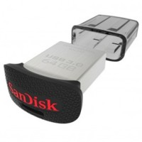 Jual SanDisk Ultra Fit USB 3.0 Flash Drive 64GB - SDCZ43-064G - Black Murah