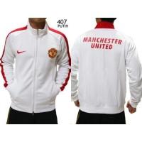 Jual Jaket Bola Manchester United Putih | Jaket Sweater Bola Import Murah