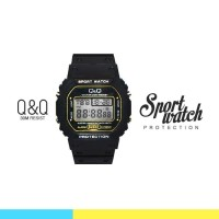 Jam Tangan Pria Digital- Q&Q Sporty ORI (PROTECTION) (FIN-32)