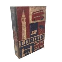 Jual Safety Box- Brankas Buku Motif London Antik Jadul Kuno LARGE Murah