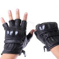 Jual Sarung Tangan Kulit Batok Motor Kulit Domba Asli Glove Half Protector Murah