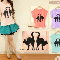 Jual DAPATKAN BEST SELLER cathy softpastel top avail purple n peach Murah