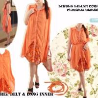 Jual DAPATKAN HARGA KHUSUS chiffon dress lilian litle flower mini dress pa Murah