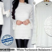 Jual DAPATKAN SPECIAL Worthington White Turtleneck original branded Murah