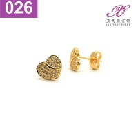 Anting Tusuk Permata Lapis emas Perhiasan imitasi Jewelry 026