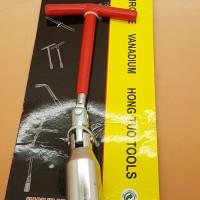 Jual Kunci Busi Flexibel T-type Socket 21 Mm Murah