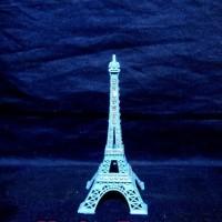 Jual Miniatur Menara Eiffel Paris Mutiara (biru Muda) Murah