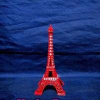 Jual Miniatur Menara Eiffel Paris Mutiara (Merah) Murah