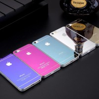 Jual Tempered Glass Colorful IPhone 5 5s Mirror Style (Depan & Belakang) Murah