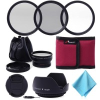 LF412. Lensa Wide+hood. 52mm 0.45x Wide Angle Lens + UV CPL ND4 Filter