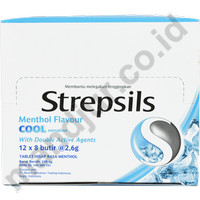 Strepsils (Menthol Flavor) Sachet - permen pelega tenggorokan