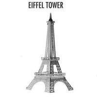 Jual Miniatur 3D Logam Tipis Rakit Sendiri Model Menara Eiffel Murah