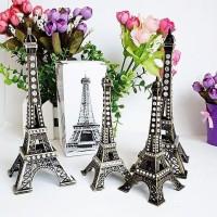 Jual Miniatur Menara Eiffel dengan Hiasan Kristal (13cm) Murah