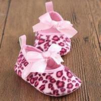 Jual Sepatu Prewalker MOTHERCARE Pink Leopard Ribbon - Sepat Berkualitas Murah