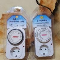 Jual colokan listrik berwaktu 24 atau 6 / colokan timer 24 jam dan 6 jam Murah