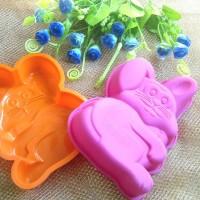 Jual Cetakan Kue Coklat Puding Es Batu Karakter Kelinci Bear masuk Oven art Murah
