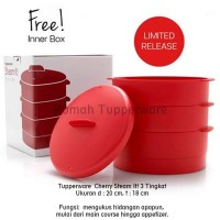 Jual Hot! Tupperware Cherry Steam it 3 Tingkat (Promo) Murah