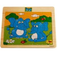 Terbaik Mainan Edukatif / Edukasi Anak Puzzle Kayu Gambar Gajah