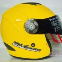 KYT 2 vision yellow kuning golkar 2vision helm double visor