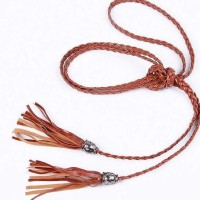 Jual Rope Weave Tassel Pendant Belt Ikat Pinggang Anyam Aa054 Murah