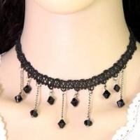 Jual Kalung Chocker Forever21 Beads Tassel Pendant Weaving Chain Aa045 Murah