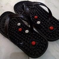 Jual Sandal Pijat HITAM Refleksi terapi jepit Akupuntur sandal kesehatan Murah