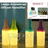 Paket Lampu Aromaterapi Diffuser Humidifier (Botol) + Essential Oil