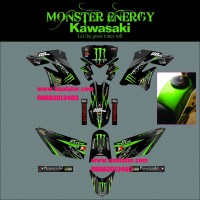 TERMURAH Sticker striping motor stiker Kawasaki KLX 150 Monster SPEC