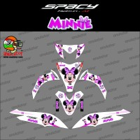 TERMURAH Sticker striping motor stiker Honda Spacy Black Minnie Mouse