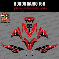 TERMURAH Sticker striping motor stiker Honda Vario 150 ESP Tribal Exo