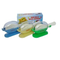 centong nasi anti lalat higienis New Double Rice Spoon isi 2