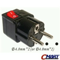 WONPRO WSA-9-ON/OFF: Universal Travel Adapter with Power Switch ON/OFF