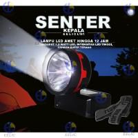 EELIC LAS-L181 MERAH LAMPU SENTER KEPALA CHARGE 1.5W LED di cas