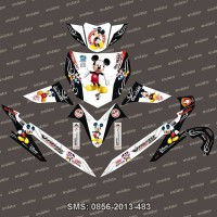 Stiker Striping Honda Vario Mickey Mouse Spec A FAVORIT