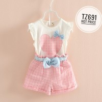 Jual Limited Stock Setelan Xirubaby Set Love Pink Pita Blue Murah