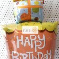 Balon Foil Cake model Kado