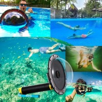 Jual 6 Inch Dome Port Waterproof Diving Case with Trigger -GoPro Hero 5-6 Murah
